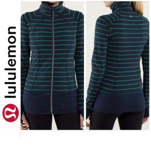 Lululemon Striped Nice Asana Running Yoga Jacket